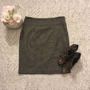 Banana Republic Black Wool Blend Tweed Skirt Size8